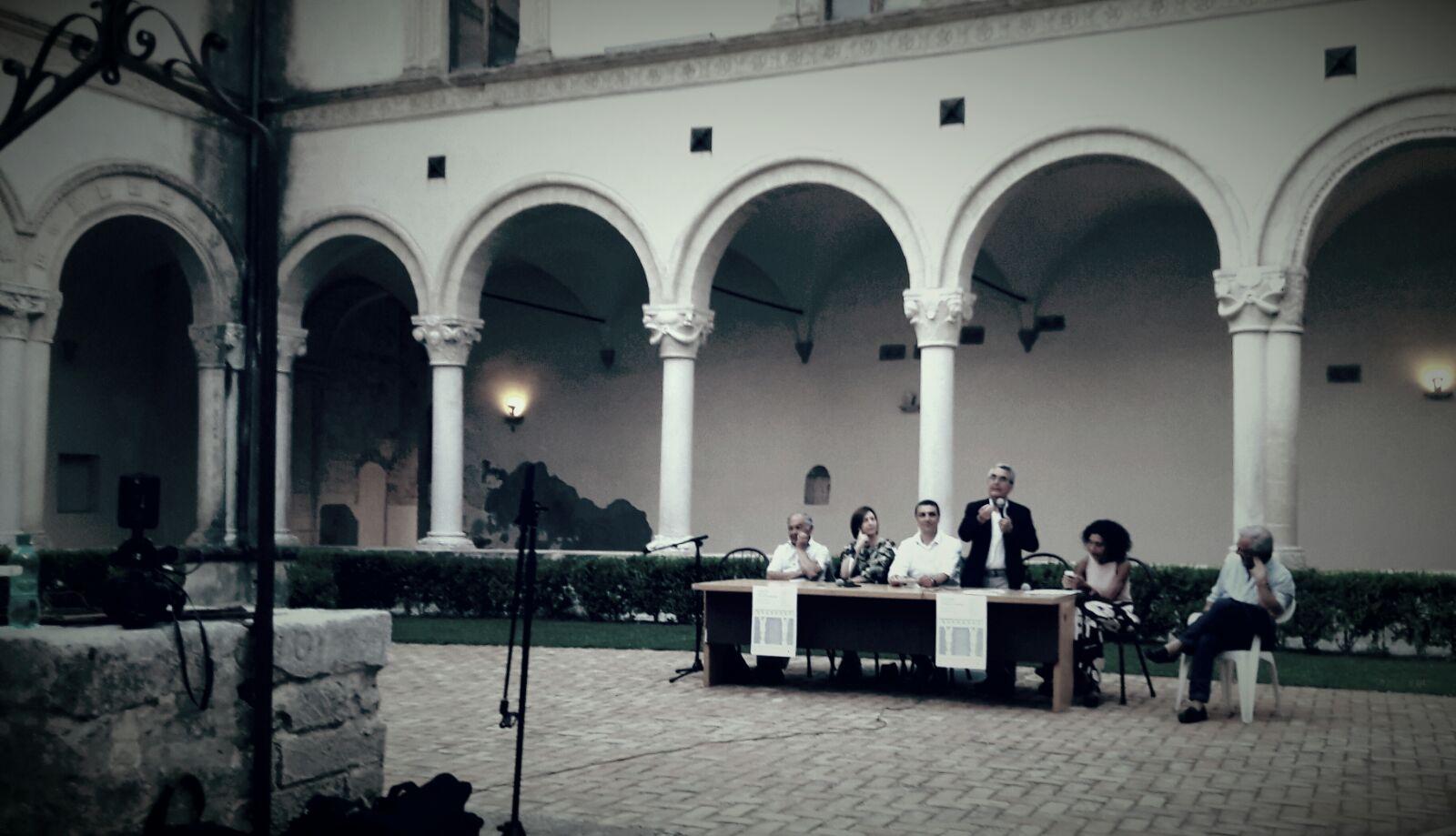 Un momento della presentazione dell'esposizione del telamone di Montescaglioso.