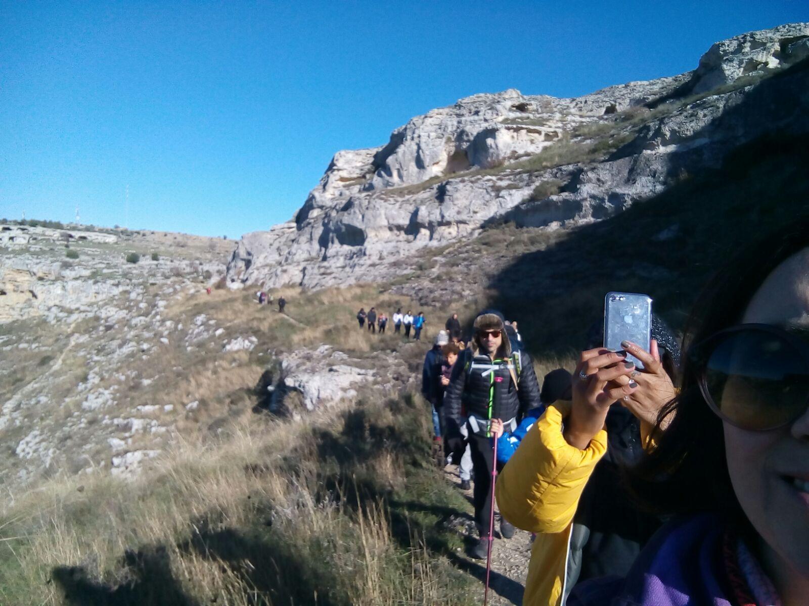 Un altro momento di una delle ultime guide effettuate nel Parco della Murgia Materana accompagnando un gruppo di escursionisti