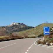 Una panoramica di San Mauro Forte, sulla collina materana