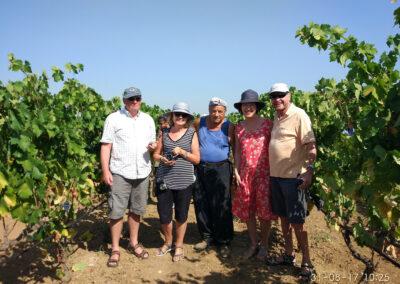 Il gruppo di viaggiatori americani che Alessandro Perrone ha accompagnato