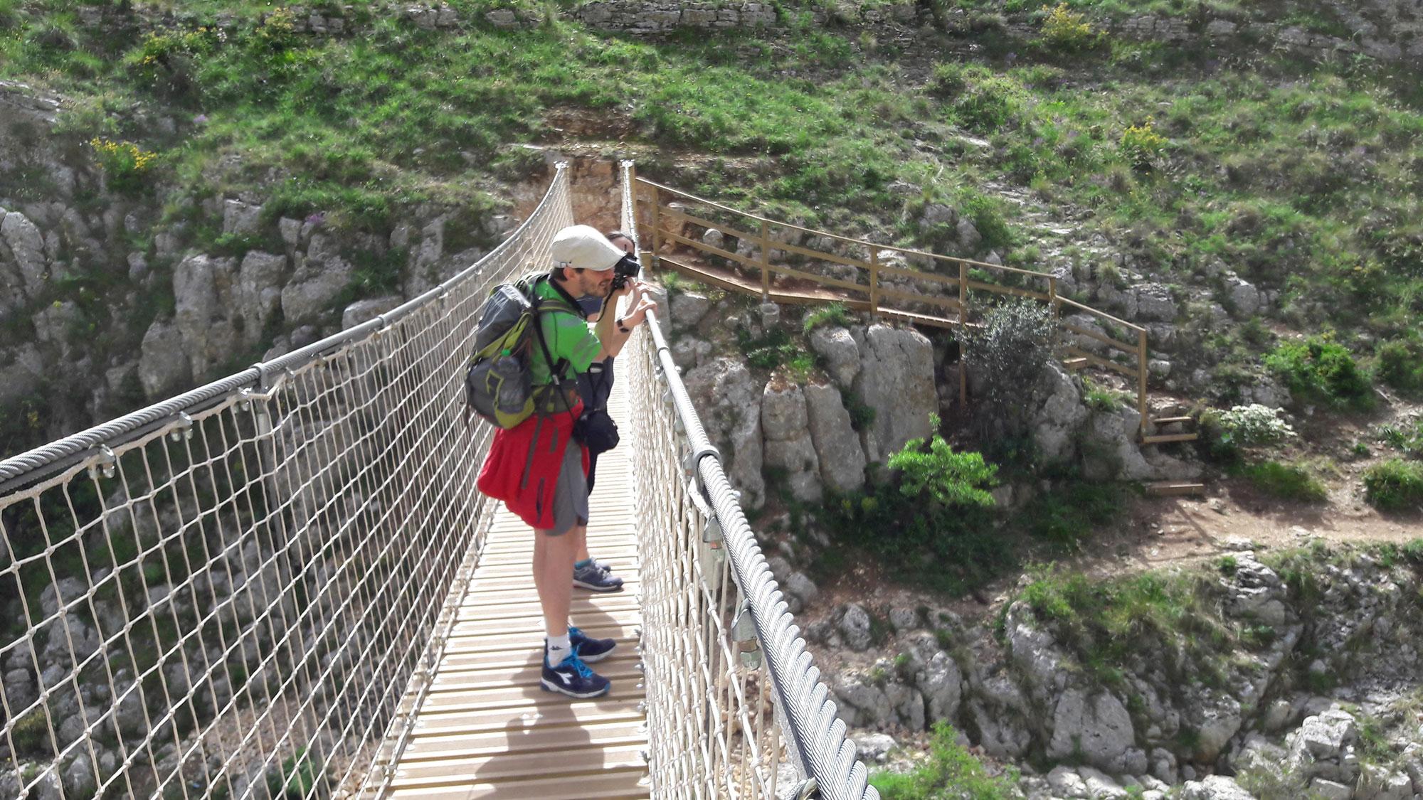 Ponte Tibetano a Matera - Escursione dai Sassi alla Murgia